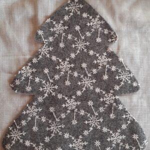 Grigio Ricamato | Fustellato Albero di Natale