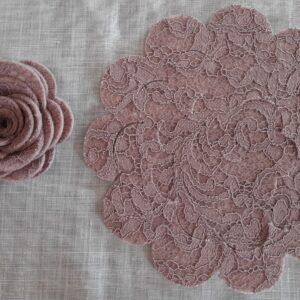 Rosa Antico | Fustellato Rose Pizzo