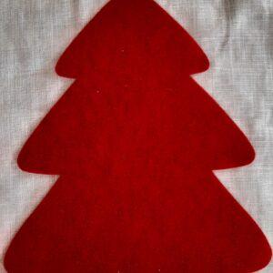 Rosso Melange | Fustellato Albero di Natale