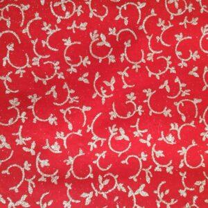 Rosso Vivo Ramo   Pannolenci Glitter